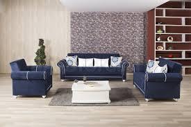 Blue Sofa Royal Home Sofa Set Riva Dark Blue 3pc 249494 Furniture