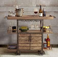 portable patio bar. Rustic Bar Cart Portable Serving Tray Wine Beverage Drink Tea Trolley Industrial Acebbaecefbf Patio