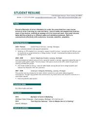 College Resume For Internship documents ...