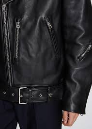 acne studios nate clean leather biker jacket