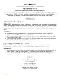 Head Start Teacher Assistant Sample Resume Awesome Resume Examples Education Australia Combined With Resume Samples