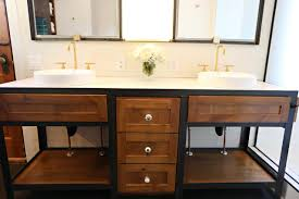 Custom Metal Cabinets Custom Made Oak Bathroom Vanity And Built In Medicine Cabinet