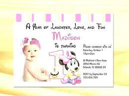 Baby Minnie Mouse Invitations Fresh Birthday Invitations Templates