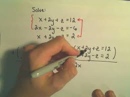solving a system of equations involving 3 variables using elimination by addition example 2 you