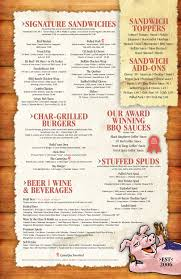 Menu- BBQ Restaurant and Catering in Mt. Airy & Frederick MD