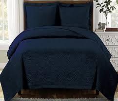1653 best Modern Bedding images on Pinterest | Mandalas ... & Modern Navy Blue Scroll Solid Lightweight Quilt Coverlet and Sham Set -  Lightweight bedding and reversible Adamdwight.com