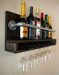 full size of wine rack and glass holder wall mounted metal wine rack 4 long stem