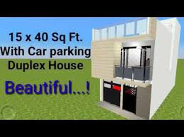 600 sq ft duplex house with car parking