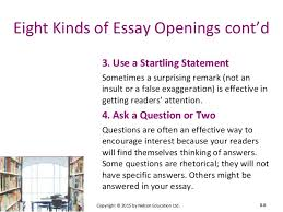 chapter essay essentials  8 eight kinds of essay