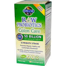 garden of life raw probiotics colon care 30 veggie caps probiotics garden of life