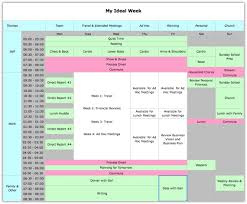 week time schedule template how to better control your time by designing your ideal week