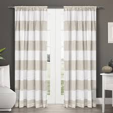 spectacular inspiration striped curtain panels com exclusive home curtains darma linen sheer rod pocket