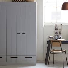 Scandinavian Pine Bedroom Furniture Connect Contemporary 2 Door Cupboard Cabinet With Storage In