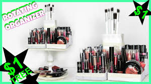 diy rotating makeup organizer dollar tree