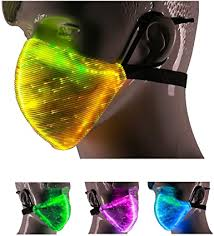 7 Color Lights LED Light up Face Mask USB ... - Amazon.com