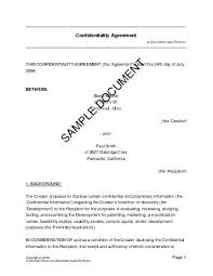 Confidentiality Agreement Samples Confidentiality Agreement Nigeria Legal Templates Agreements