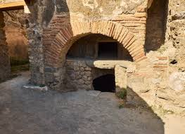 roman bakery oven archaeological remains at ruins of pompeii the city was an ancient roman city destroyed by the volcano vesuvius