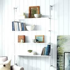 pottery barn wall shelves hanging bookshelf shelf unit floating installation
