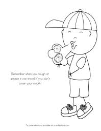 Small Picture No More Spreading Germs Coloring Pages for Kids Kids colouring