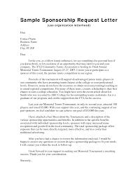 Event Sponsorship Letter Example Letter Sample Sample Sponsorship Letter Gplusnick Sample 4