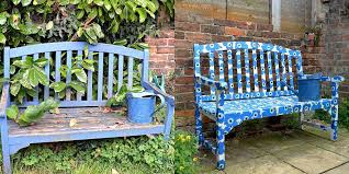 Green Bench Garden Furniture Paint Colours Renewing Bench Garden