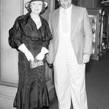 Oliver Hardy With His Wife by Bettmann