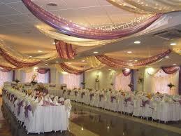 Curtains Wedding Decoration White Purple Wedding Dining Hall Decoration With Beautiful Curtain