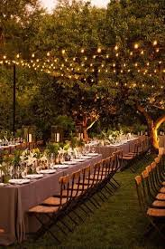 bulb strings in rows are a great solution for any type of wedding