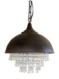 industrial round chandelier creative co op metal with crystals