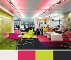 colorful office space interior design. Delighful Space Color Scheme Ideas To Inspire You And The Significance Of In Design  4 For Colorful Office Space Interior W