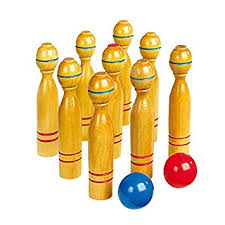 Game Of Skittles Wooden Wooden skittles game large Amazoncouk Toys Games 56