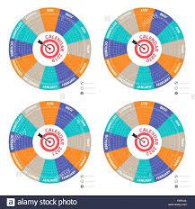Circle Calendar Template Calendar Template Yearly Seraffino Com