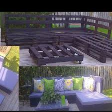 wood pallet patio furniture. Delighful Furniture DIY Patio Pallet Furniture With Purple Cushions To Wood O