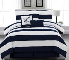 navy rugby stripe bedding