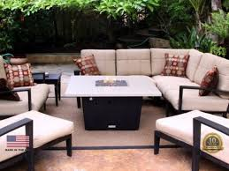 patio with square fire pit. Parkway Square Fire Pit Table - 44 X Patio With