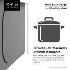 30 Inch Deep Kitchen Cabinets Stainless Steel Kitchen Sinks Kraususacom