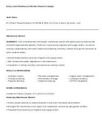 How To Make A Resume With No Experience Awesome Sample Warehouse Worker Resume Warehouse Job Resume Warehouse Jobs