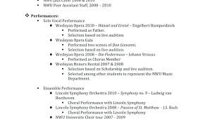 Opera Resume Template Best Account Manager Resume Example It Project