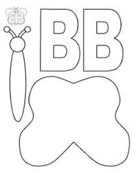 letter b craft templates for kindergarten