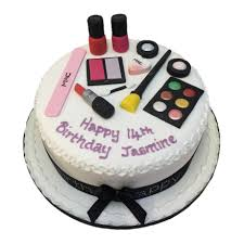 home novelty cakes themed novety cakes mac makeup cake