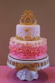 Pink And Gold Princess First Birthday Cake Luv Bugs 1st Bday