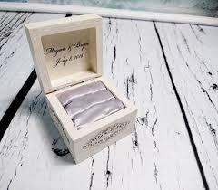 best custom writing ideas writing process  white silver shabby chic wood rustic wedding rings box elegant vintage custom writings winter wedding