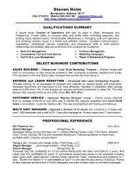 Restaurant Resume Template Management Resumes Assistant
