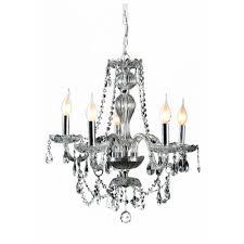decor living venetian 5 light crystal and chrome chandelier