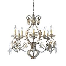 hampton bay allure 8 light antique silver chandelier