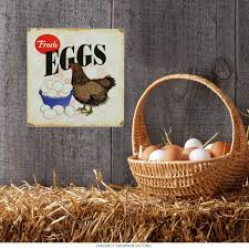 Farm Animal Kitchen Decor Fresh Eggs Chicken Farm Metal Sign Country Kitchen Decor