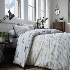 racing green andover stripe reversible duvet cover set silver single linens limited