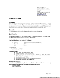 types of resumes formats
