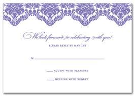 Response Cards For Weddings Violet Vista Rsvp Response Cards Wedding Response Cards 17611
