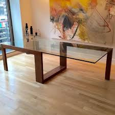 beautiful wooden dining table with glass top 17 best ideas about glass top dining table on rustic